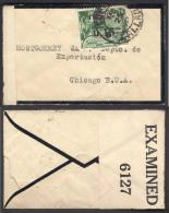 PERU CENSORED OLD COVER To CHICAGO VERY SMALL COVER EXAMINED 6127 - Peru