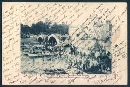 34 St THIBERY Pezenas Ruines Pont Romain Genie Construisant Une Passerelle - Pezenas