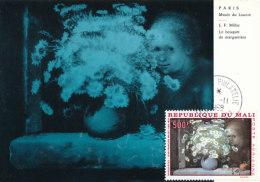 D26317 CARTE MAXIMUM CARD 1968 MALI - BOUQUET DE FLEURS BY MILLET CP ORIGINAL - Art