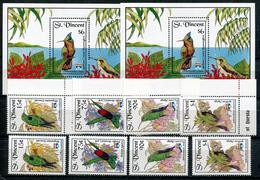 1992- ST.VINCENT-BIRDS- OISEAUX-8 VAL.+ 2 S.S.- LUXE !! - St.Vincent (1979-...)