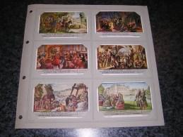 HISTOIRE DE NOS PROVINCES HAINAUT  Liebig  Série Complète De 6 Chromos Trading Cards Chromo - Liebig