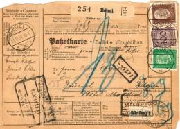 Dt. Reich 343 + 420 MiF Portogenau Auf Ausl.- Paketkarte Von Beuel 1931 Nach Belgien - Covers & Documents