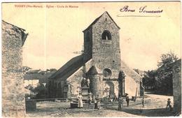 Carte Postale Ancienne De VOISEY-Eglise-croix De Mission - France