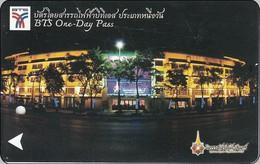Thailand BTS Card  Ticket   Building One Day Pass - Train - Eisenbahnen