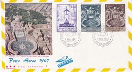 Vaticaan - FDC 07-03-1967 - Flugpostmarken/Luchtpostz Egels - Michel 517 - 522 - FDC