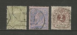Léopold II Et Lion Couché Années 1885/6/8 - Belgique
