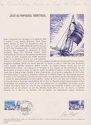 FDC FRANCE 1976  JEUX OLYMPIQUES DE MONTREAL  ( Document Philatélique Officiel 30 X 21 Cm ) - Estate 1976: Montreal