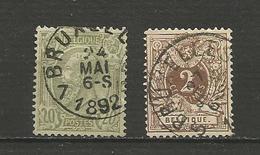 Léopold II Et Lion Couché Années 1886/8 - Belgique