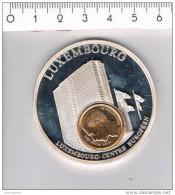 M A ( 3 Scans ) Luxembourg Centre Europeen - European Currencies - Pièces écrasées (Elongated Coins)