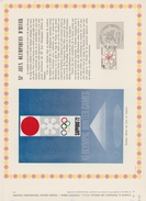 FDC FRANCE 1972  JEUX OLYMPIQUES DE SAPPORO ( Document Philatélique 30 X 21 Cm )