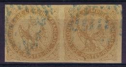 Colonies Francaises: Yv Nr 3 Paire Obl Bleu