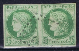 Colonies Francaises: Yv Nr 17 Used Obl  Paire - Cérès