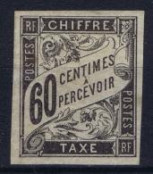 Colonies Francaises: Yv Taxe Nr 11 MH/* Falz/ Charniere