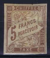 Colonies Francaises: Yv Taxe Nr 12 MH/* Falz/ Charniere