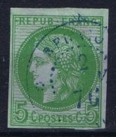Reunion : Yv Nr 17 Used  Obl  CDS St Denis En Bleu - Reunion Island (1852-1975)
