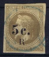 Reunion : Yv Nr 5a Used Obl  Bleu Cachet   Brun Foncé - Reunion Island (1852-1975)