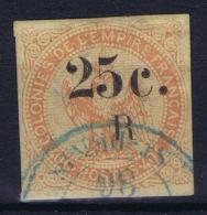 Reunion : Yv Nr 4 Used Obl  Bleu Cachet - Réunion (1852-1975)