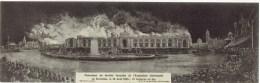 BRUXELLES - Panorama Du Terrible Incendie De L' Exposition Universelle 1910 - Double Carte - Expositions Universelles