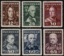 ~~~  Austria Autriche 1935  - Famous Leaders - Mi. 617/622 * MH - CV 175.00 € ~~~ - Ungebraucht