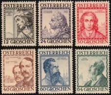 ~~~  Austria Autriche 1934  - Architects - Mi. 591/596 * MH - CV 150.00 € ~~~ - Ungebraucht