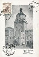 D26352 CARTE MAXIMUM CARD 1955 POLAND - LUBLIN CRACOW GATE CP ORIGINAL - Architecture
