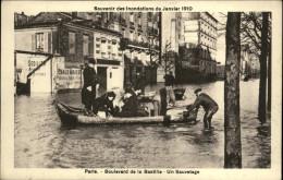 75 - PARIS - 12 ème - Boulevard De La Bastille - Inondations 1910 - Arrondissement: 12