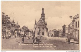 Herenthals Groote Markt En Stadhuis Gekarteld - Herentals