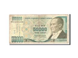 Turquie, 50,000 Lira, 1985, Undated, KM:204, B - Turquia