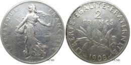 France - IIIe République - 2 Francs Semeuse 1908, TB - Fra1339 - I. 2 Franchi