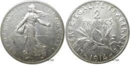 France - IIIe République - 2 Francs Semeuse 1914, TTB+ - Fra1342 - I. 2 Franchi