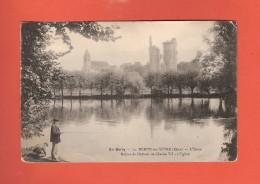 * CPA..dépt 18..MEHUN Sur YEVRE  :  L´ Yèvre -  Ruines Du Château De Charles VII :  Voir Les 2 Scans - Mehun-sur-Yèvre