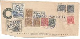 ESPAÑA- SERIE AÑOS 1940/1955- CABECERA DE PAPEL SELLADO FISCAL. SELLO DE 3ª CLASE + FISCALES - Fiscaux