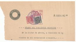 ESPAÑA- SERIE AÑOS 1940/1955- CABECERA DE PAPEL SELLADO FISCAL. SELLO DE 5ª CLASE + FISCALES - Fiscaux