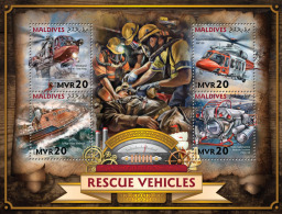 MALDIVES 2016 - Rescue Vehicles, Submarine. Official Issue