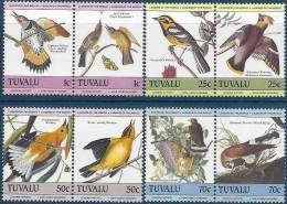 1985 TUVALU 291-98** Audubon, Oiseaux