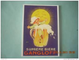CLOUET  10703    BIERE GANGLOFF   AUZOLLE VERS 1920 - Cafés