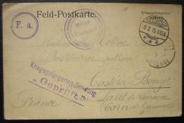 1915: Feld Postkarte Du Camp D'Ohrdruf Avec Nombreux Cachets Et Tampons (voir Photos) - Postmark Collection (Covers)