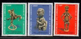 1986 Cameroun Cameroon Statues Art Culture Complete Set Of 3  MNH - Kameroen (1960-...)
