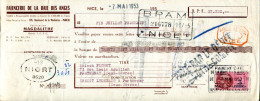 06.NICE.FAÏENCERIE DE LA BAIE DES ANGES.FABRICATION MAGDALITHE 105 BOULEVARD DE LA MADELEINE. - Bills Of Exchange