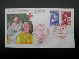 1700-1701  Croix Rouge  J-B GREUZE  1971  TOURNUS - FDC