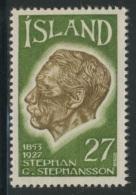 Iceland Island 1975 Mi 504 YT 457 ** Stephan G. Stephansson (1853-1927) Poet, Farmer/ Dichter - Emigrated Wisconsin, USA - Schrijvers