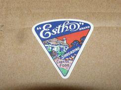 Cheese Queso Kase Label Etikette Etiqueta ~1920-1950 Estho Spreading - Quesos