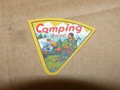 Cheese Queso Kase Label Etikette Etiqueta ~1920-1950 Camping Hill Climber - Quesos