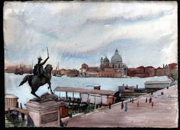 AQUARELLE 390 X 285 Mm, ARTISTE: MATHILDE CAUDEL DIDIER ( BENEZIT ), ITALIE, VENISE, 1909 - Aquarelles