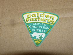 Cheese Queso Kase Label Etikette Etiqueta ~1920-1950 Golden Pastures Empire Crustless Windmill - Quesos