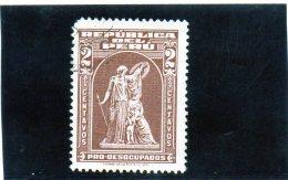 B - 1938 Peru - Pro Disoccupati - Peru
