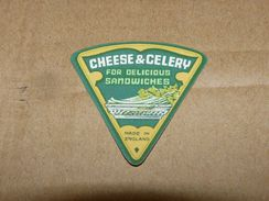 Cheese Queso Kase Label Etikette Etiqueta ~1920-1950 Cheese & Celery England - Quesos
