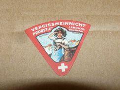 Cheese Queso Kase Label Etikette Etiqueta ~1920-1950 Vergissmennicht Probst & Co. Langnau Emmental Suisse - Quesos