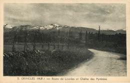 Dép 65 - Orincles - Route De Lourdes Et Chaîne Des Pyrénées - état - Autres Communes