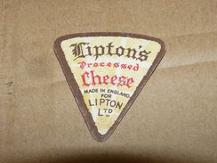 Cheese Queso Kase Label Etikette Etiqueta ~1920-1950 Lipton's Cheese Lipton England - Quesos
